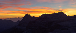 Sunset Over The Sella Group