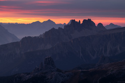Red Skies Over Cinque Torri
