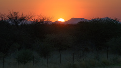 Sunset On The B1 To Okjiwarongo