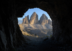 The Three Peaks From The Cave