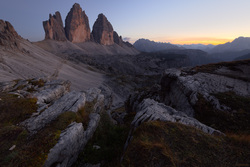 Last Light At Tre Cime