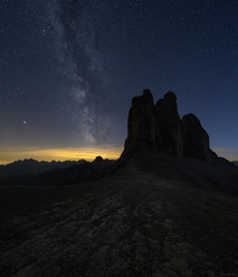 Tre Cime di Lavaredo and the Milky Way