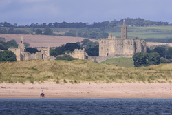 Warkworth Castle From Coquet Island